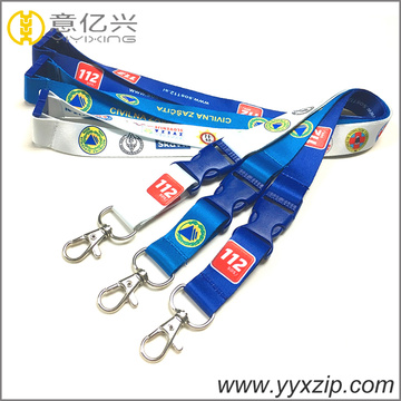 Color Plastic Buckle Rotatable Metal Hook Lanyard