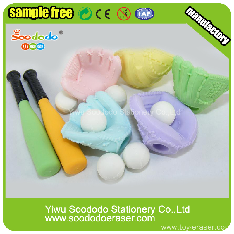 Wholesale Novelty 3D Shaped Eraser Preschool Educational Toys For Kids