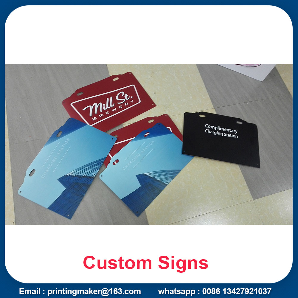 White Rigid Plastic PVC Signs Board