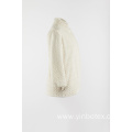 White fake fur warmly outer coat
