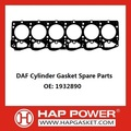 DAF Gasket Cylinder Head Spare Parts 1932890