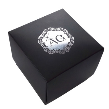 Black cardboard paper jewelry box