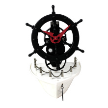 Ship sailboat gear table clock for desk
