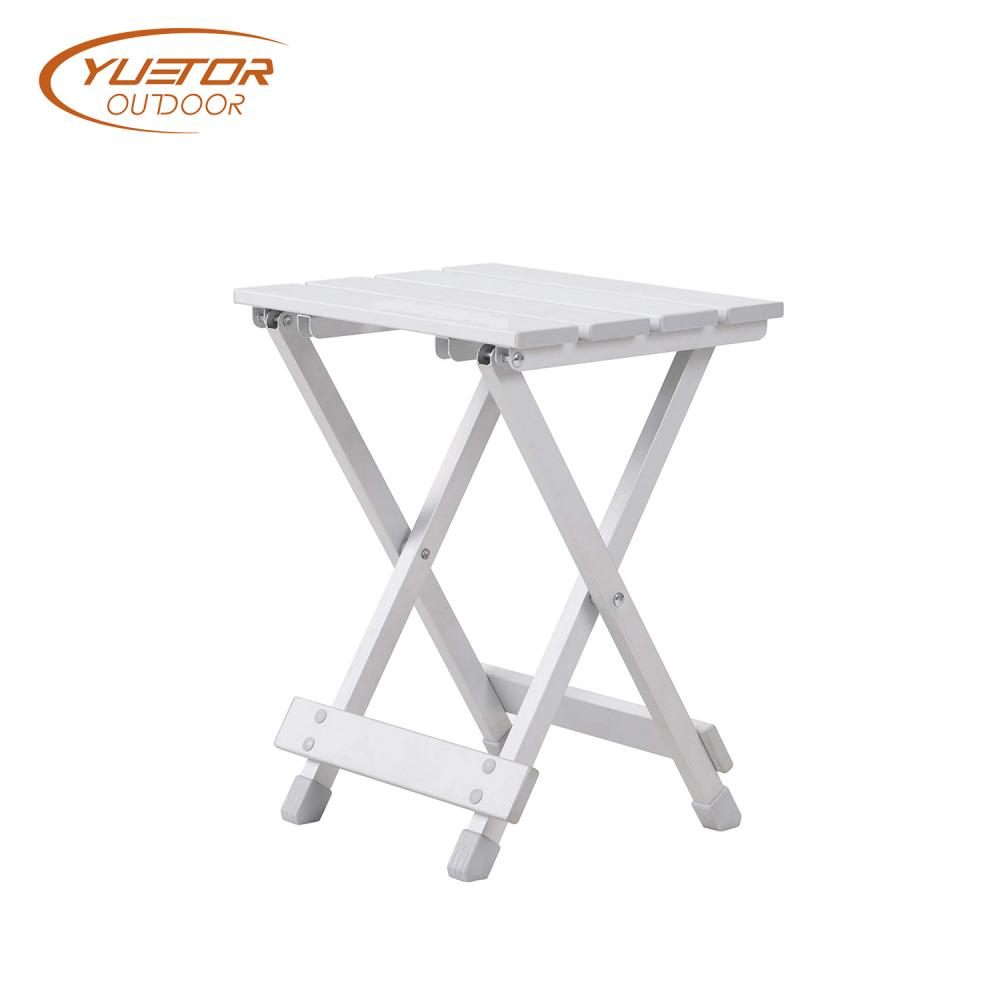 Easyup Travel Side Kick Stool Aluminum Bedside Table 2