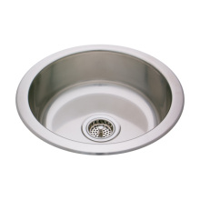 Kitchen Stainless Steel Large Round Single Sink
