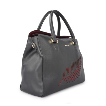 Genuine Leather Black Large Tote Bag For Lady