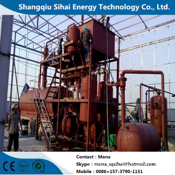 Waste Engine Oil Extracting to Diesel Distillation Plant