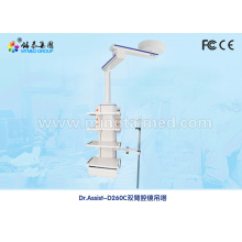 Mechanical double arm endoscopy medical pendant