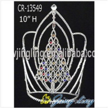 Top for Christmas Crowns Wholesale Large Christmas Tree Pageant Crowns supply to Libya Factory