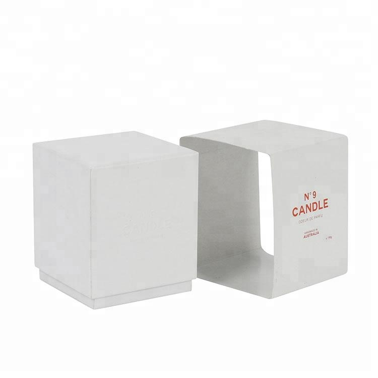 Square White Paper Sleeve Wholesale Small Candle Box