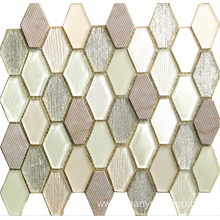 hexagon crystal and marble mosaic