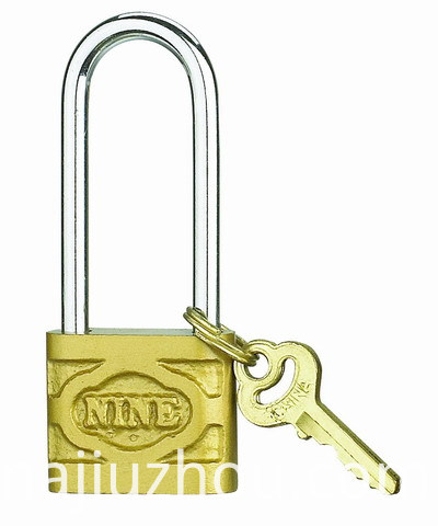 cast iron padlock with long shackle