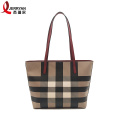 Fashion Custom Leather Tote Bag with Zipper