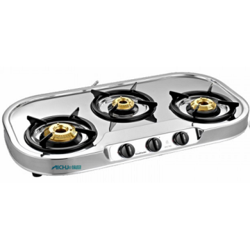 Spectra 3 Burner SS Gas Stove Auto Ignition