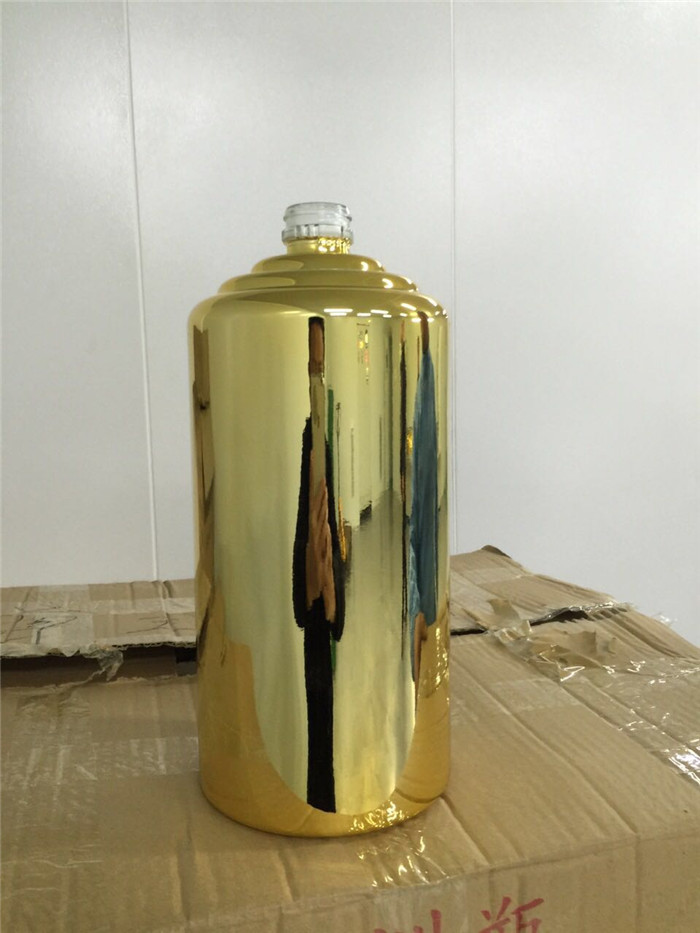 gold metallizing coating bottle