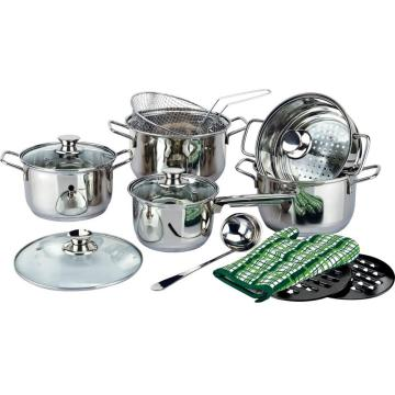 Wire handle 15pcs kitchenware sets 2020