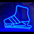 SKIING LED NEON ILLUMINATED SIGNAGE