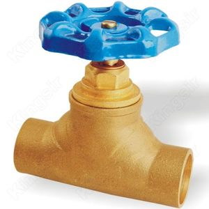 Massive Selection for for Water Stop Valves Brass Globe Valve With Solder Ends supply to Eritrea Exporter