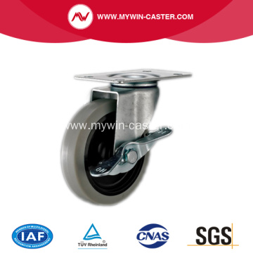 2'' Swivel TPR Light Duty Industrial Caster with side brake