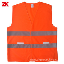 Shot sleeve safety reflective warning vest