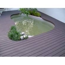Waterproof wood plastic composite material decking board