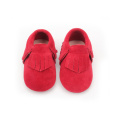 Wholesale Infant Christmas shoes baby leather moccasins