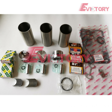 excavator F17C engine gasket bearing piston ring liner