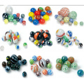 Safety opaque glass marbles for children