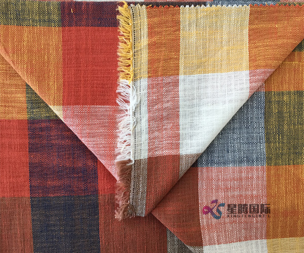Both Sides Of Colorful Plaid Bamboo Fiber Shirt Fabric