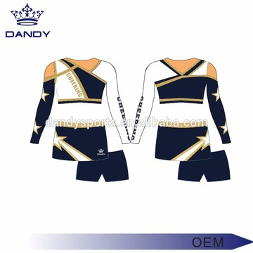 Unik design asymmetrisk halskjær Cheer Uniform for ungdom