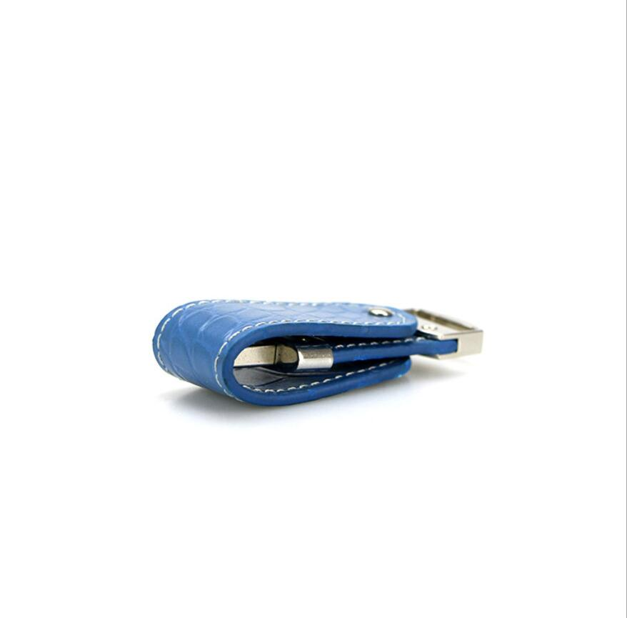 blue leather usb flash drive 4