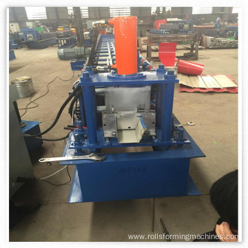 Steel gutter making roll forming machine