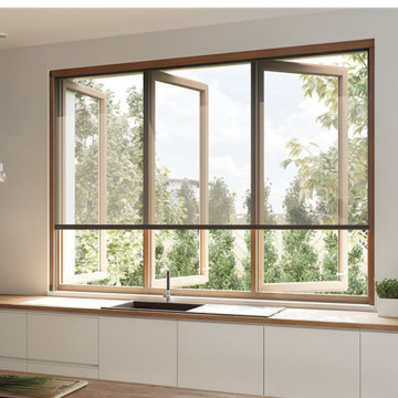 Lingyin Construction Materials Ltd New design aluminium double glass window aluminum casement window with accessories