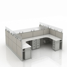 China supplier OEM for Office Cubicle Workstation glass office workstation for 4 people export to Uruguay Factory