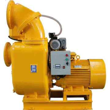 Powerful self-priming pump with vacuum assist system