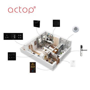 Smart Hotel Automation Host Custom Hotel Wall Switch Sockets Door Plate Hotel Door Lock Music Background Host