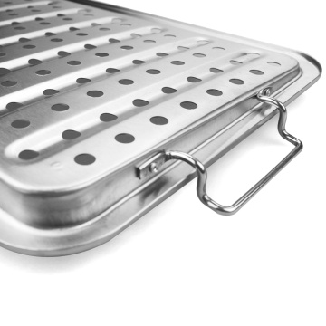 Professional-Grade Stainless Steel BBQ Grill Basket