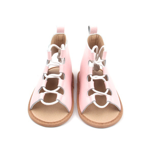 Infant Toddler High Leather Roman Baby Sandals Kids