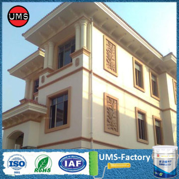High build acrylic exterior wall paint white