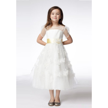 Low Cost for Empire Sexy Wedding Dress A-line Round Neck Short Sleeve supply to American Samoa Manufacturer