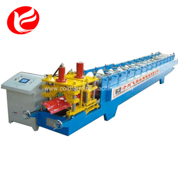 Hydraulic cuttingPPGI ridge cap roll forming machine