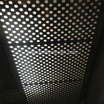 Gray Coated Round Hole Perforated Metal Ceiling