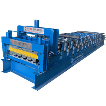 Glazed Metal double layer roof tile making machinery