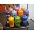 pressed colorful  Pillar candle