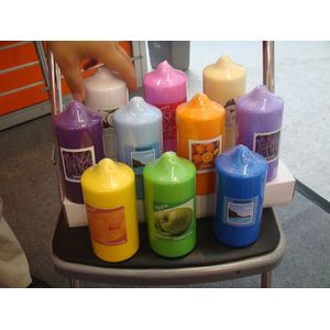 ODM for Candle Column pressed colorful  Pillar candle supply to France Wholesale