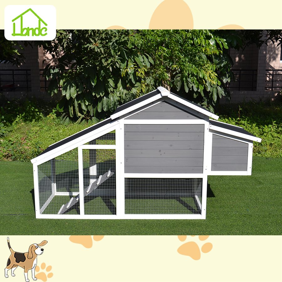 High quality wooden chicken coop and run with beautiful appearance