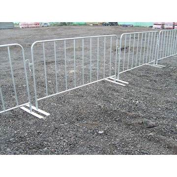 Durable concert crowd control steel barriers galvanized