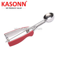 Stainless Steel Ice Cream Scooper with Anti-slip Grips