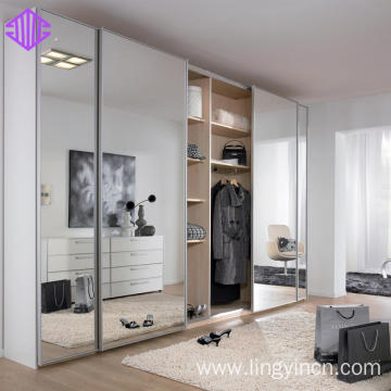 Best Price for for Sliding Door Wardrobe 4 door mirrored sliding wardrobe doors pictures supply to Netherlands Suppliers