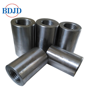 construction splicing threaded steel rebar coupler